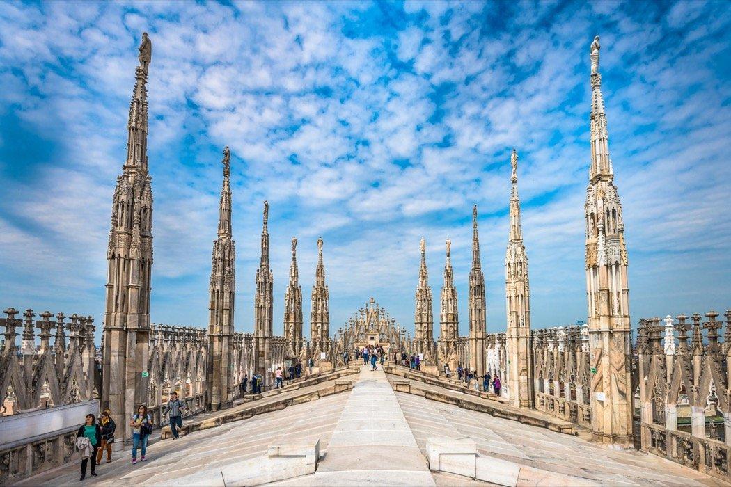 Domterrassen in Mailand