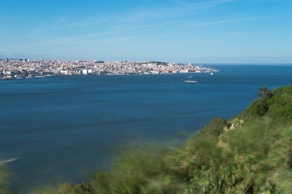 Aussicht auf Lissabon von dem Aussichtspunkt am Cristo Rei