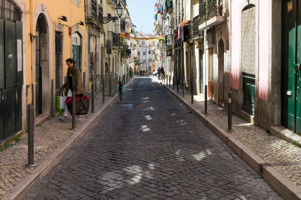 Die Straßen von Bairro Alto.