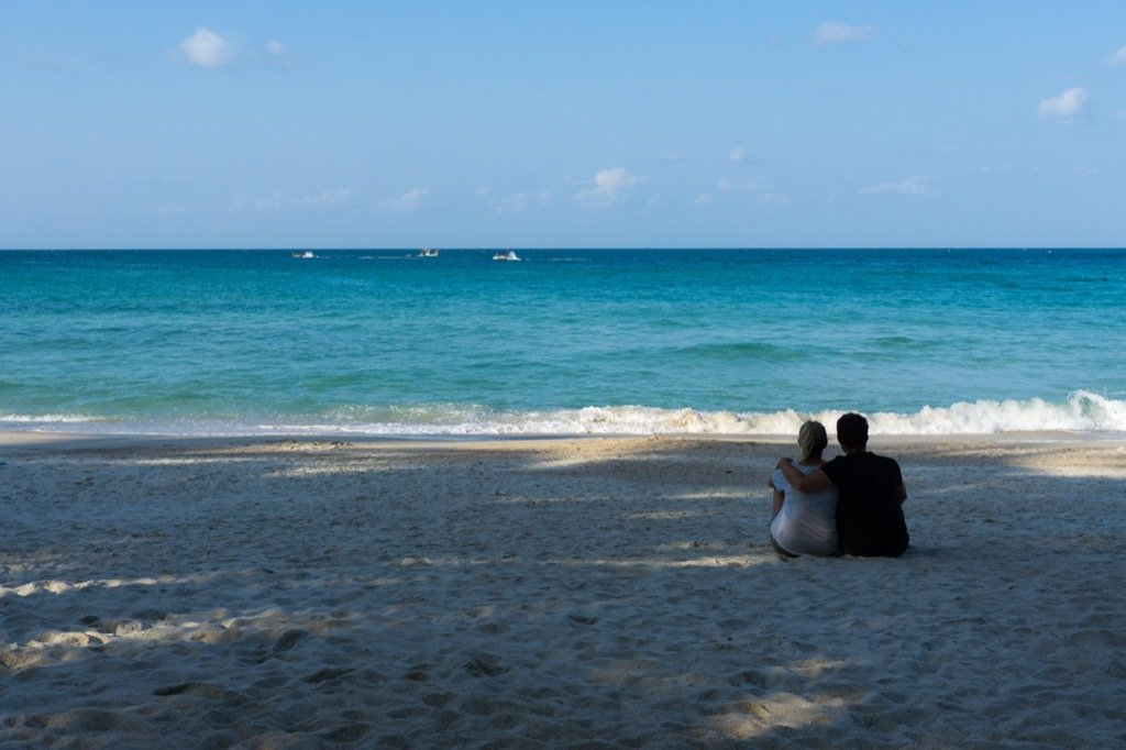 Wir am Bottle Beach