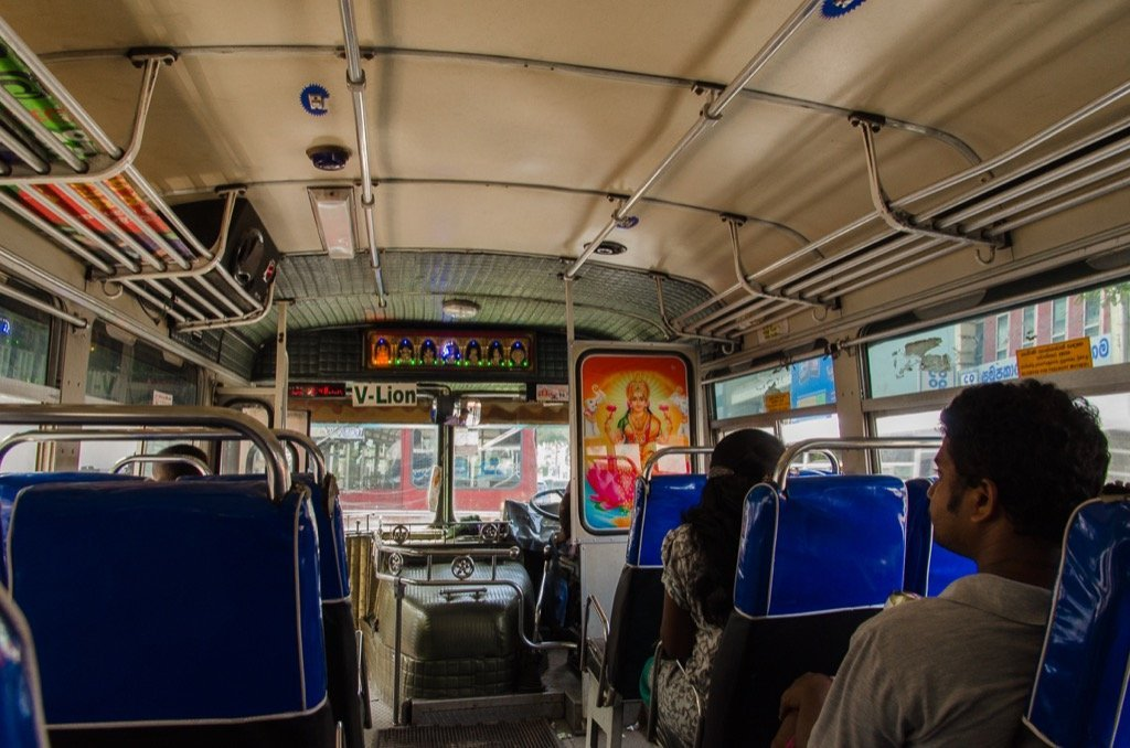 Busfahren in Colombo