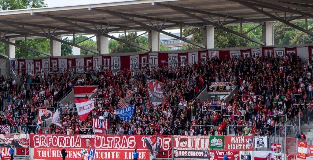 Rot-Weiß Erfurt Fanblock