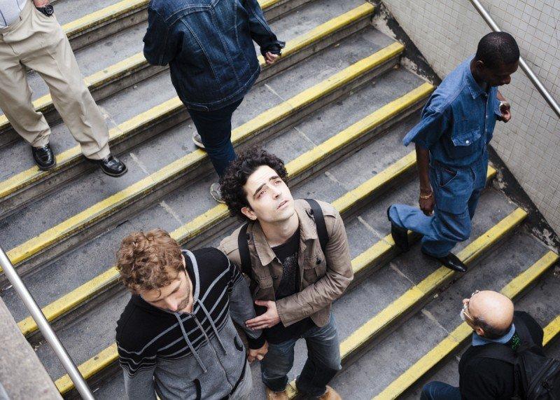Menschen auf einer Treppe