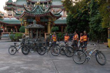 Gruppe Fahrradtour Bangkok