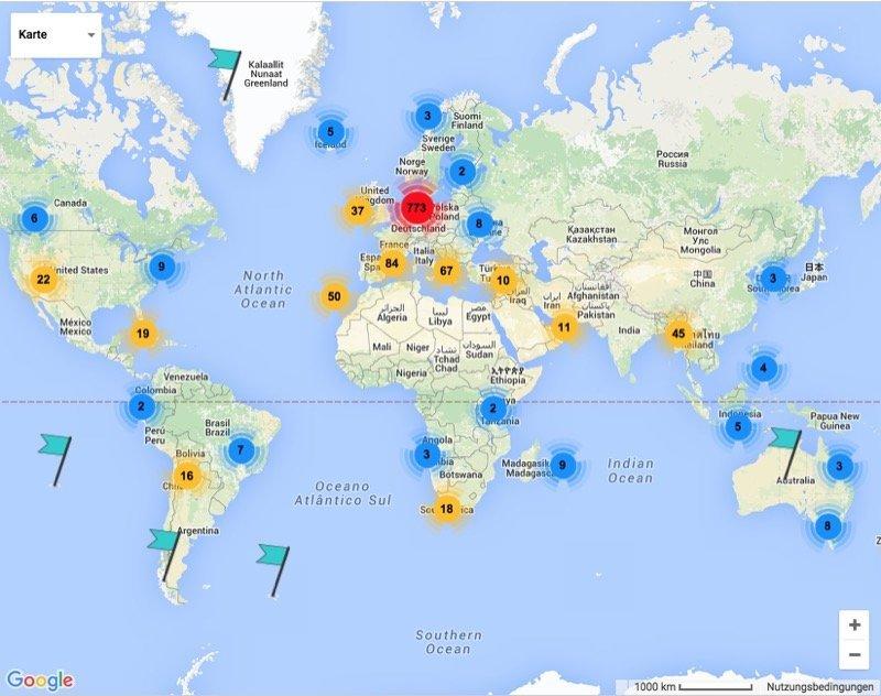 Foto-Locations Karte