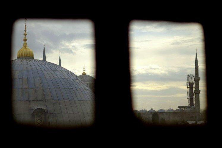 Blaue Moschee - fotografiert aus Hagia Sophia