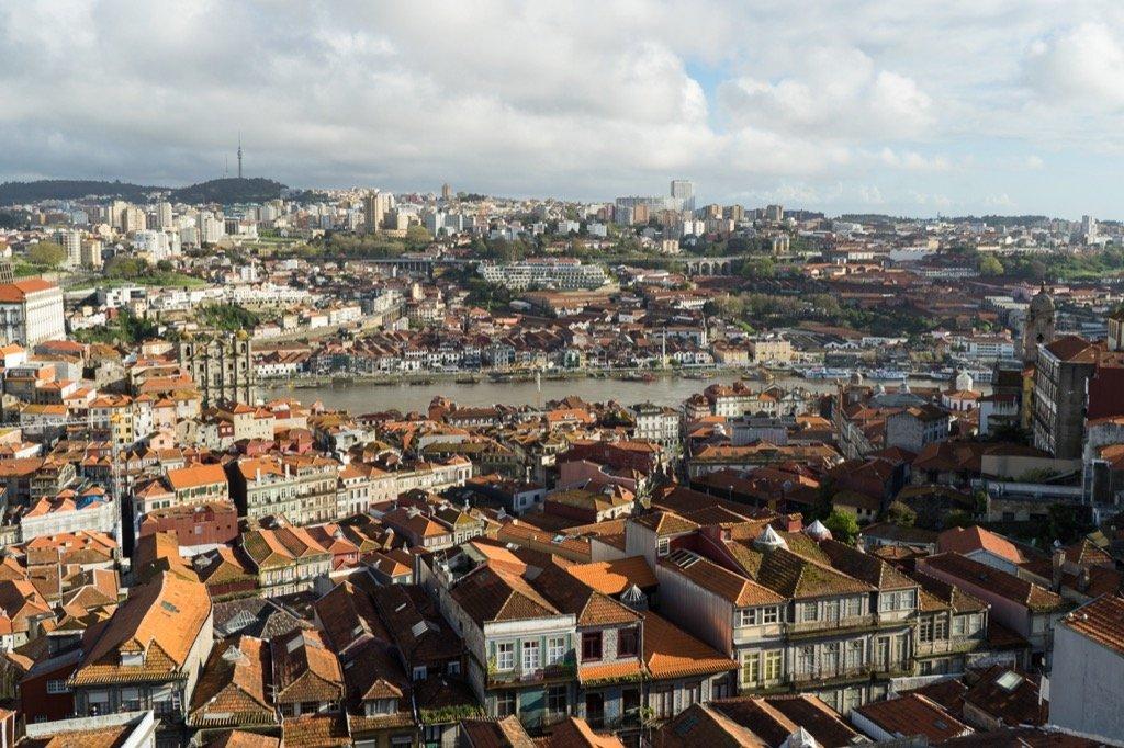 Aussicht auf Porto vom Clerigos Turm