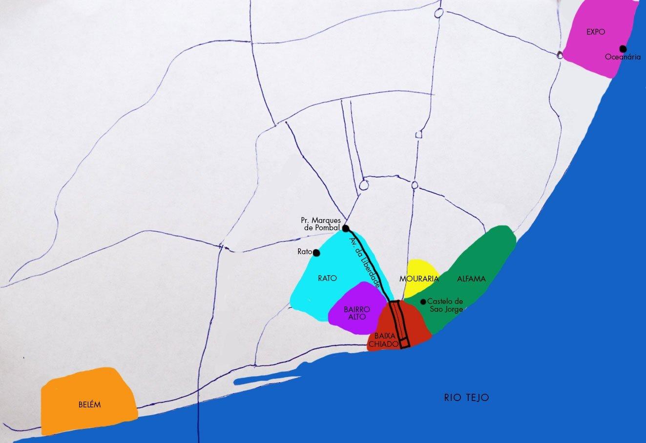 Lissabons auf unsere Karte