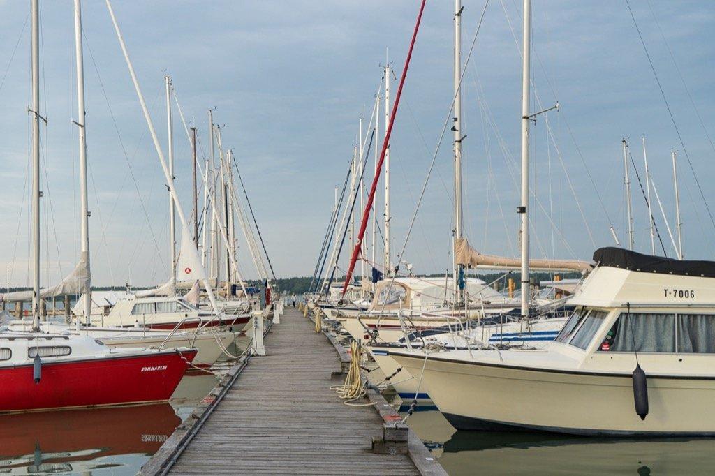 Jachthafen in Mariehamn
