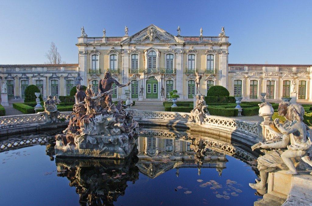 Der Palast Queluz in Sintra.