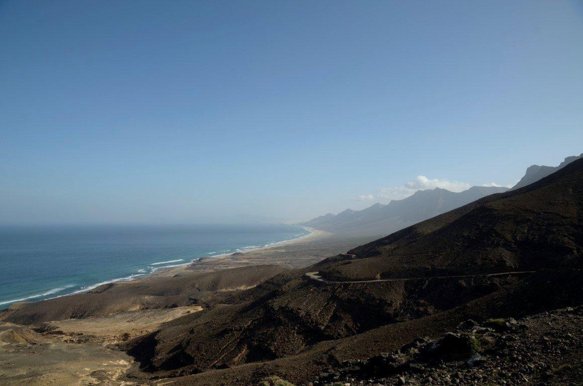 Aussicht vom Höhenzug auf den Parque Natural de Jandia