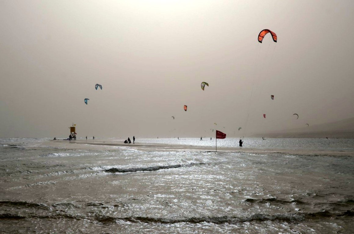 Playa Barca - während Calima Winden