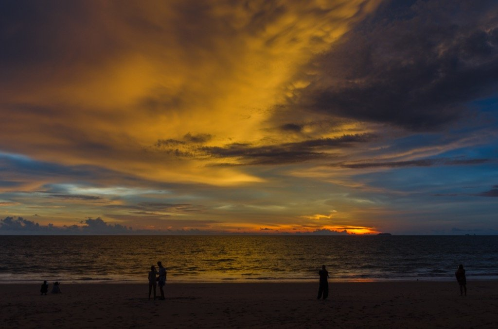 Test des Reisezooms bei Dunkelheit - Sonnenuntergang