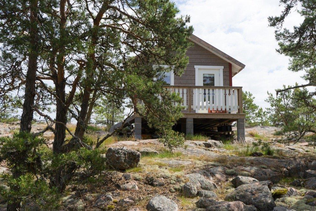 Hütte einsame Insel