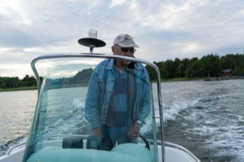 Olof fährt uns zur einsamen Insel