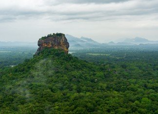 Sigiriya Felsen - von Pidurangala Felsen