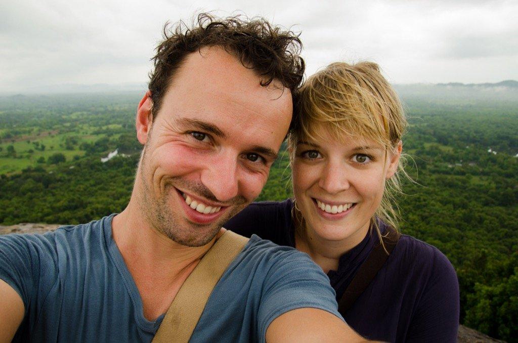 Selfie Pidurangala auf Sigiriya