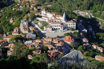 Sintra Zentrum von oben
