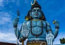 Shiva-Statue im Thiru Koneswaram Tempel, Trincomalee